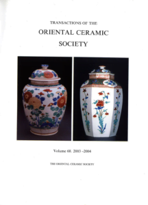 Transactions of The Oriental Ceramic Society 68