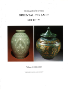 Transactions of The Oriental Ceramic Society 69