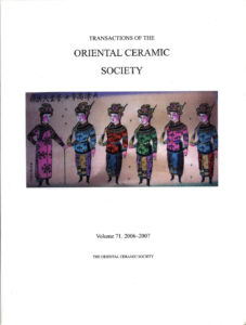 Transactions of The Oriental Ceramic Society 71