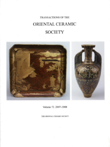 Transactions of The Oriental Ceramic Society 72